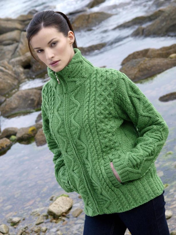 Merino Wool Zipped Cardigan