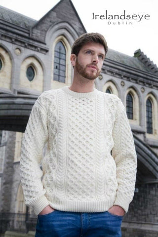 Heavyweight Merino wool Irish Aran Sweater