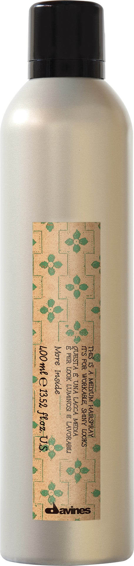 Davines Salon Quality Medium Hold Hair Spray Fabric