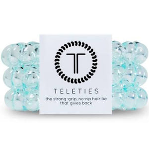 Teleties Tulum Light Blue Hair Ties Fabric Store