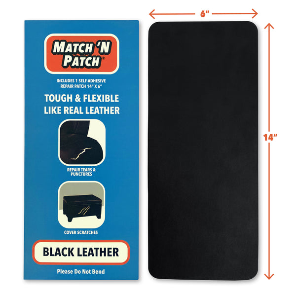 (NEW PRODUCT!) Black Leather Repair Patch