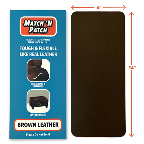 (NEW PRODUCT!) Brown Leather Repair Patch