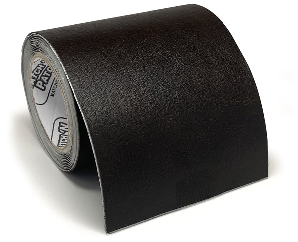(NEW PRODUCT!) 3 Inch X 72 Inch Self-Adhesive Leather Repair Tape, Dark Brown