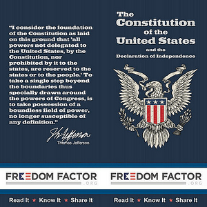 Freedom Factor Pocket Constitution, Thomas Jefferson