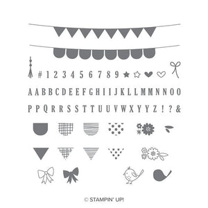 Pick a Pennant | Retired Photopolymer Stamp Set | Stampin' Up!®