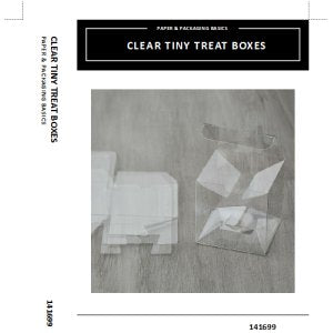 Clear Tiny Treat Boxes Insert