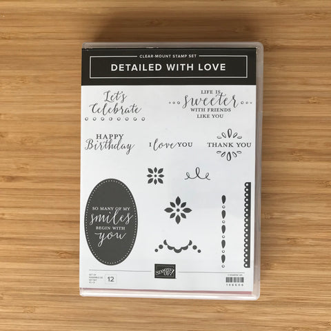Detailed With Love | Retired Clear-Mount Stamp Set  | Stampin' Up!®