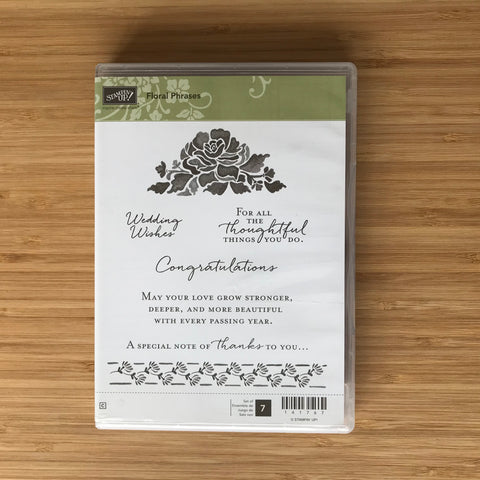 Floral Phrases | Retired Cling Stamp Set & Dies | Stampin' Up!®