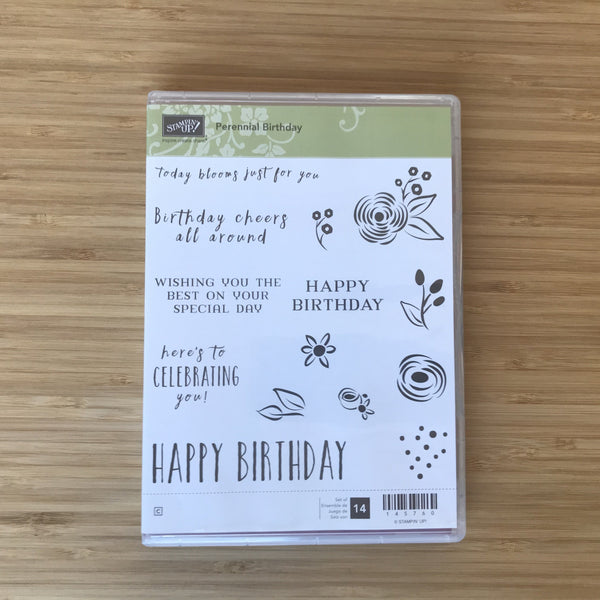 Perennial Birthday | Retired Clear-Mount Stamp Set | Stampin' Up!®