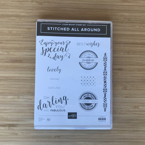 Stitched All Around | Retired Clear-Mount Stamp Set & Dies | Stampin' Up!®