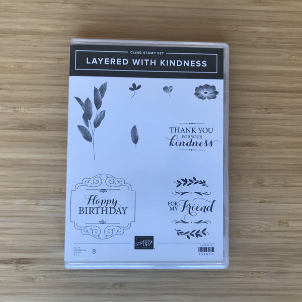 Layered With Kindness | Retired Cling Stamp Set  | Stampin' Up!®
