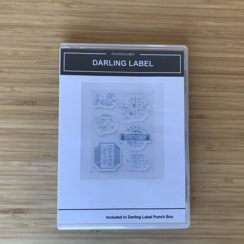 Darling Label | Retired Photopolymer Stamp Set | Stampin' Up!®