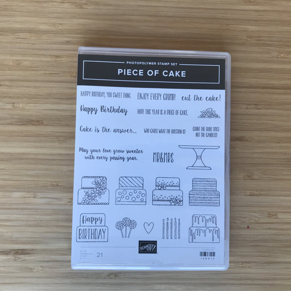 Piece of Cake | Retired Photopolymer Stamp Set | Stampin' Up!®