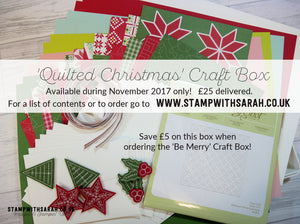 Quilted Christmas Craft Box - November Extra 2017