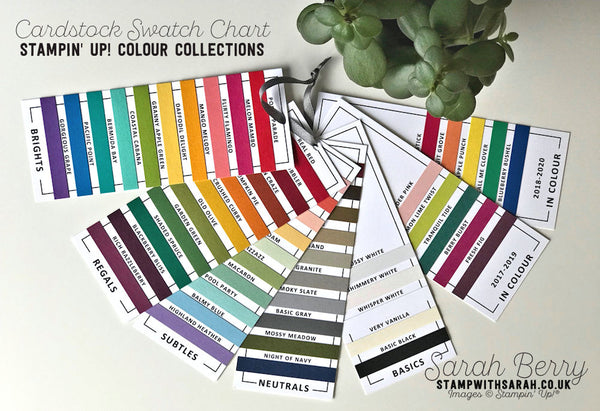 Card stock Swatch PDF for Stampin' Up! Colour Revamp 2018