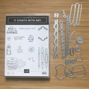 It Starts with Art | Retired Cling Stamp Set & Dies | Stampin' Up!®