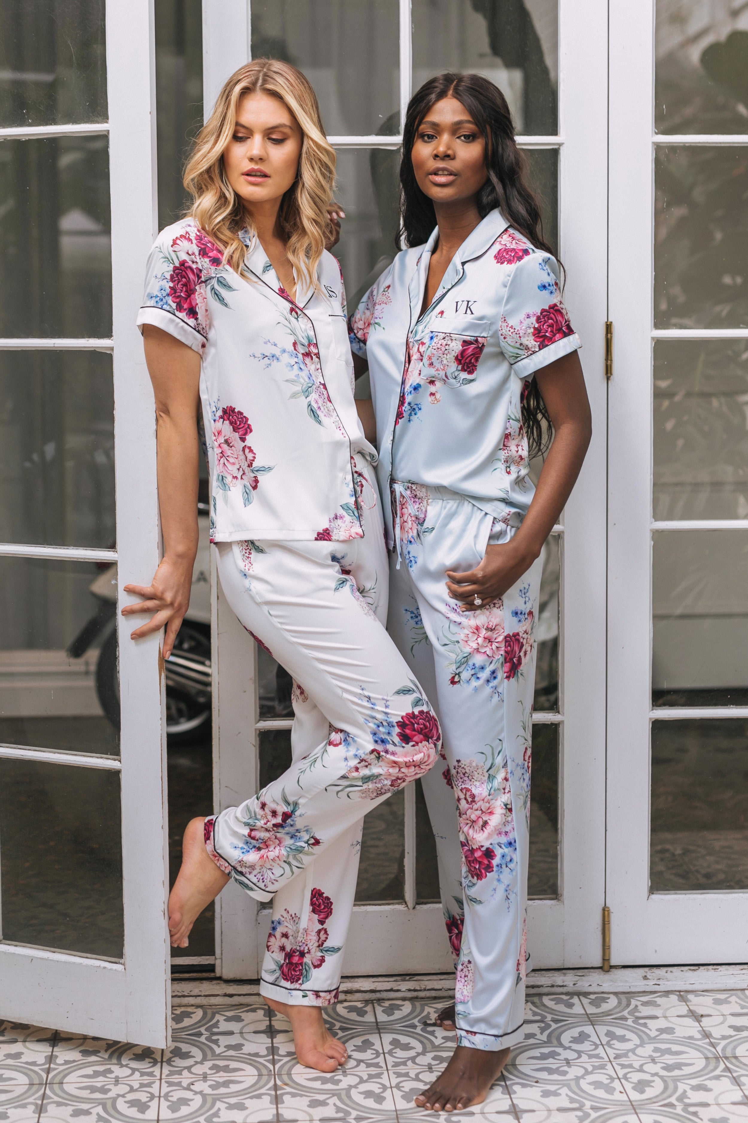 Marissa Rouge Bloom Satin PJ Set - lerose AU