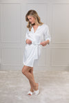 Kelsey Blushing Stripe Satin Robe