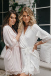 Josie Satin Lace Trim Robe