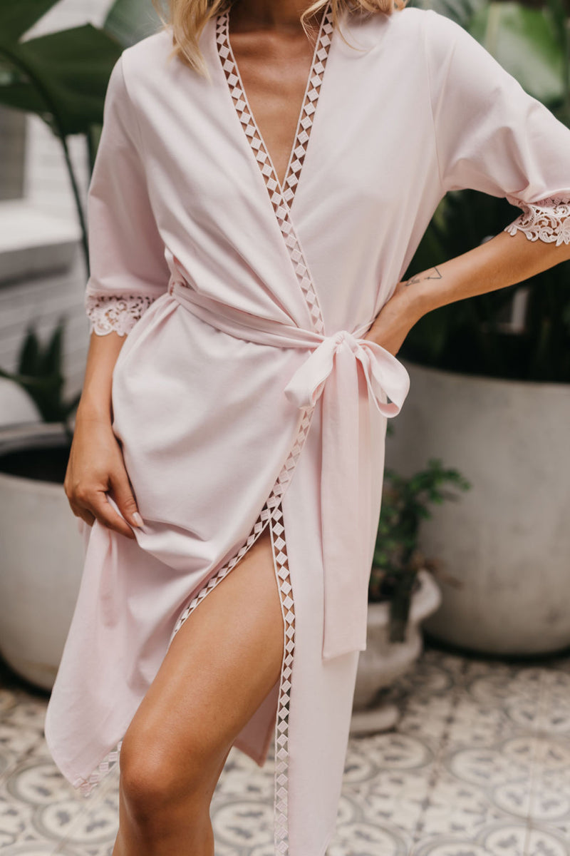 Valerie Jersey Mid Length Robe