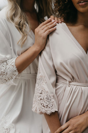 Karuna Lace Trim Robe