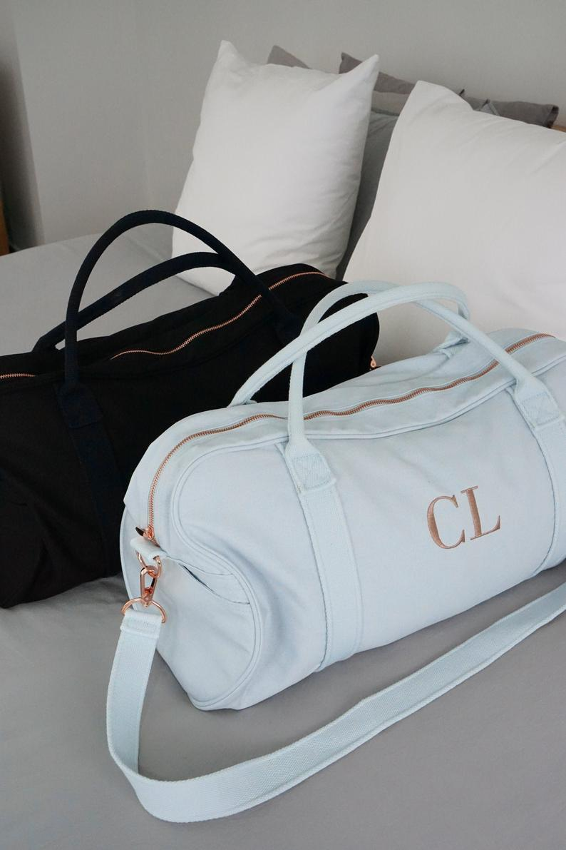 Gracie Embroidered Duffle Bag