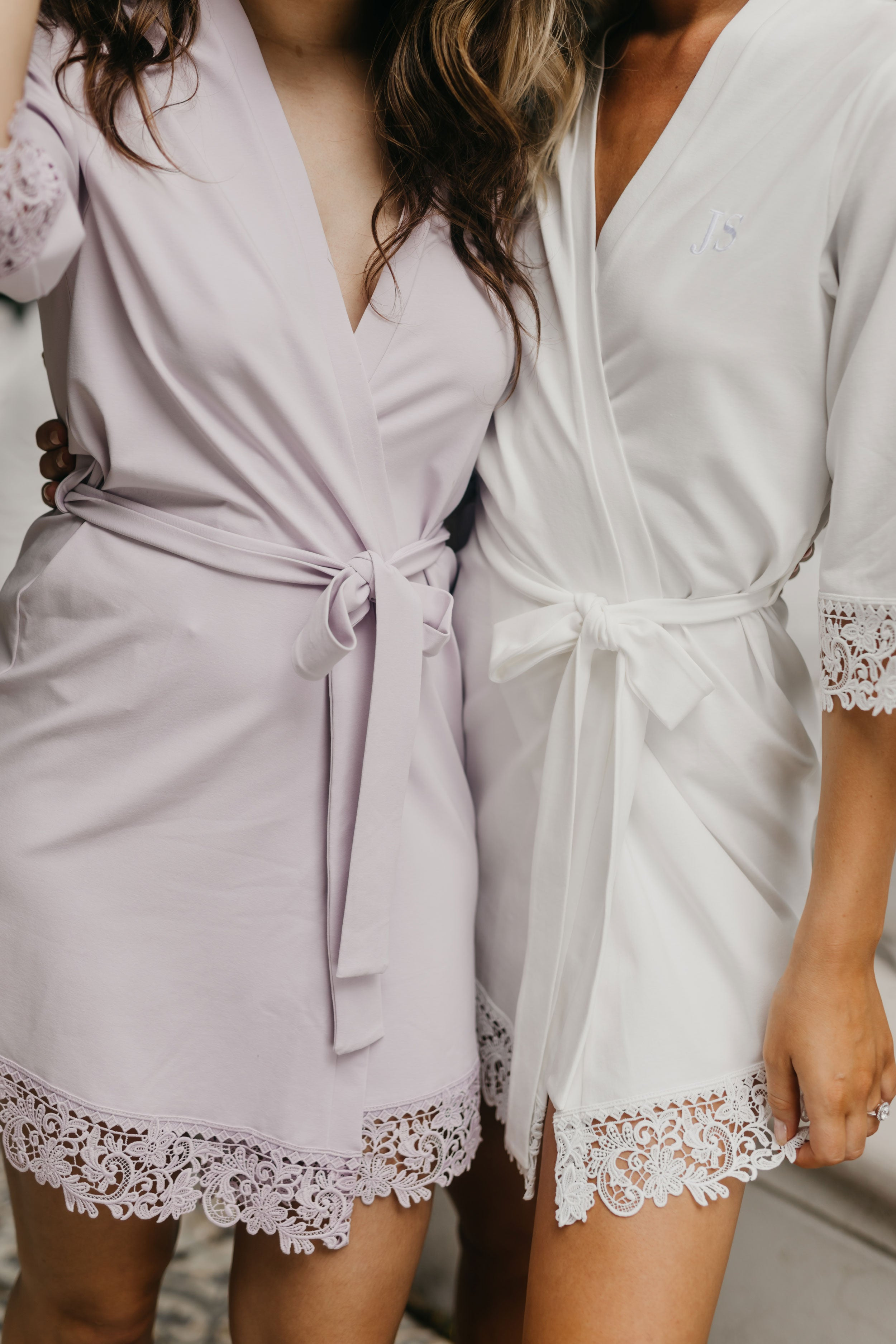Bella Jersey Lace Trim Robe - PRE ORDER 20 APRIL