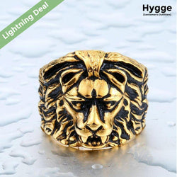 Lion Skull Ring - Gold