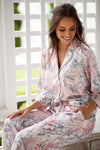 Powder Bloom Long Satin Sleep Set