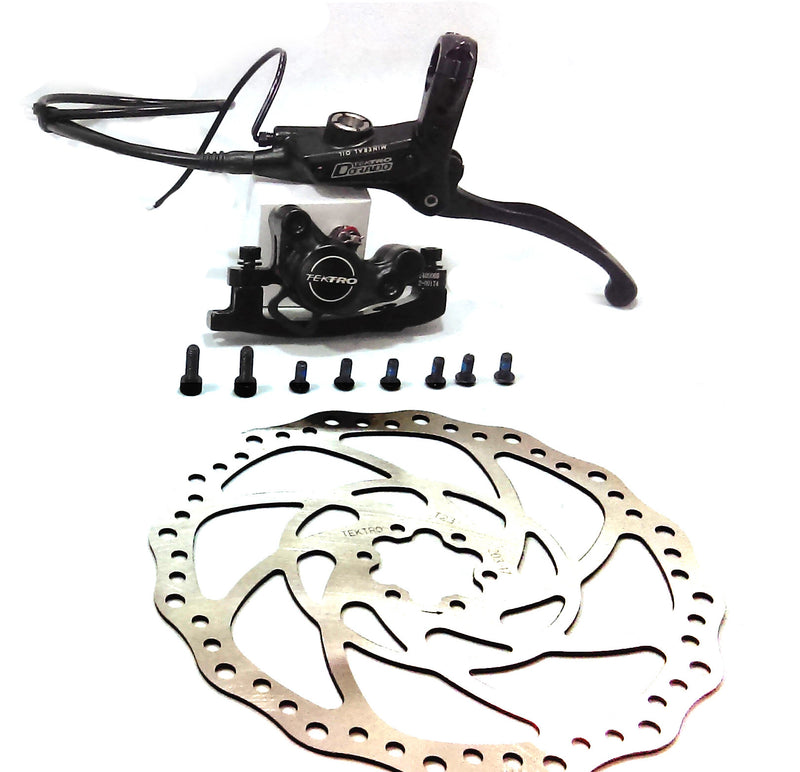 Tektro Dorado Hydraulic Disk Brake for eBike (Front) w/ 203mm Rotor - EbikeMarketplace
