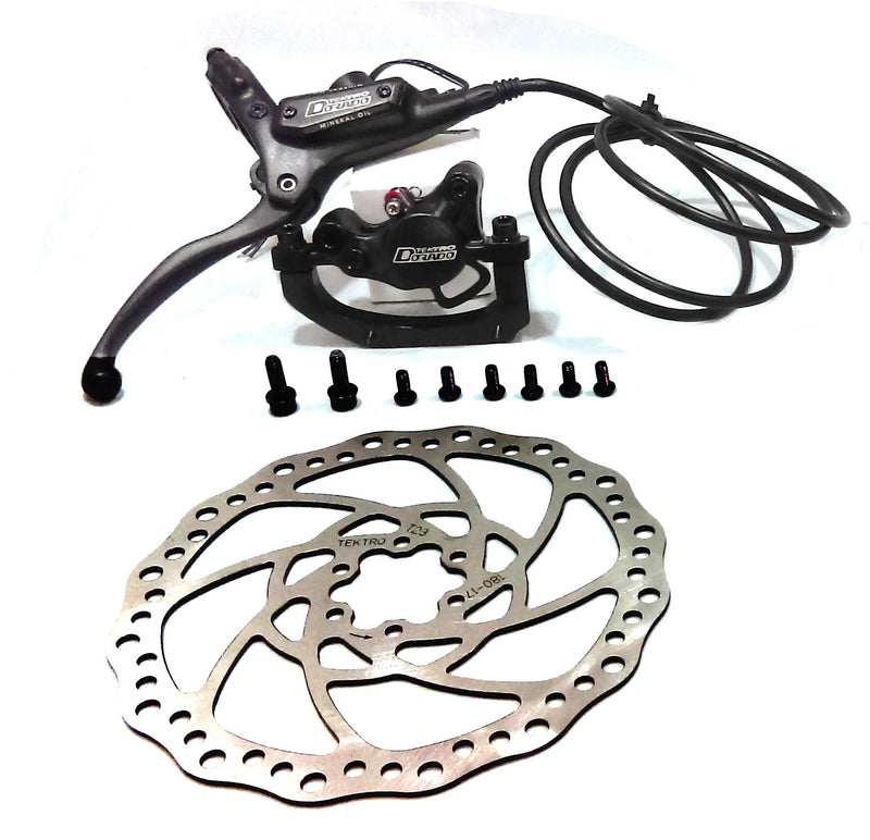 Tektro Dorado Hydraulic Disk Brake for eBike (Rear) w/ 180mm Rotor - EbikeMarketplace