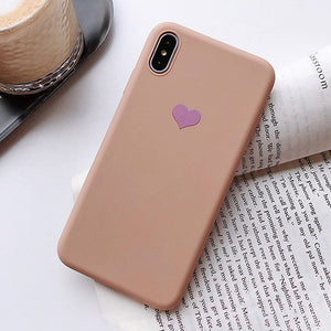 Heart Design Silicon Matte iPhone Case
