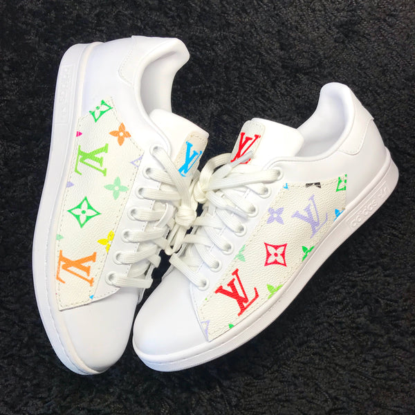 LV Rainbow Inspired Adidas Stan Smith