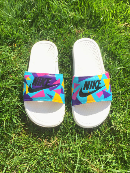 Nike Multicoloured Triangle Slides