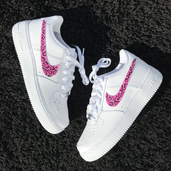 Nike Air Force 1 Pink Leopard Print – SMcustoms c990ff25d983