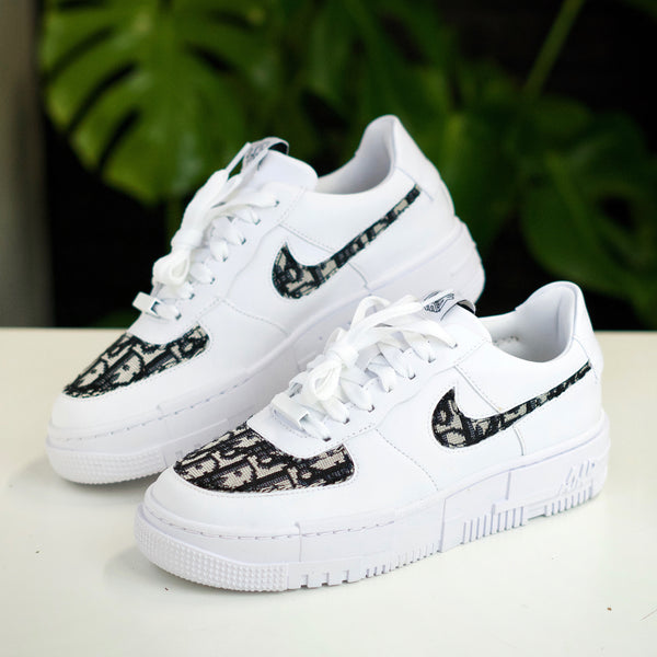 Black Dior Inspired Air Force 1 Pixel