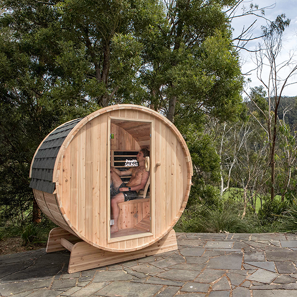 Outdoor Far Infrared 'Barrel' Sauna