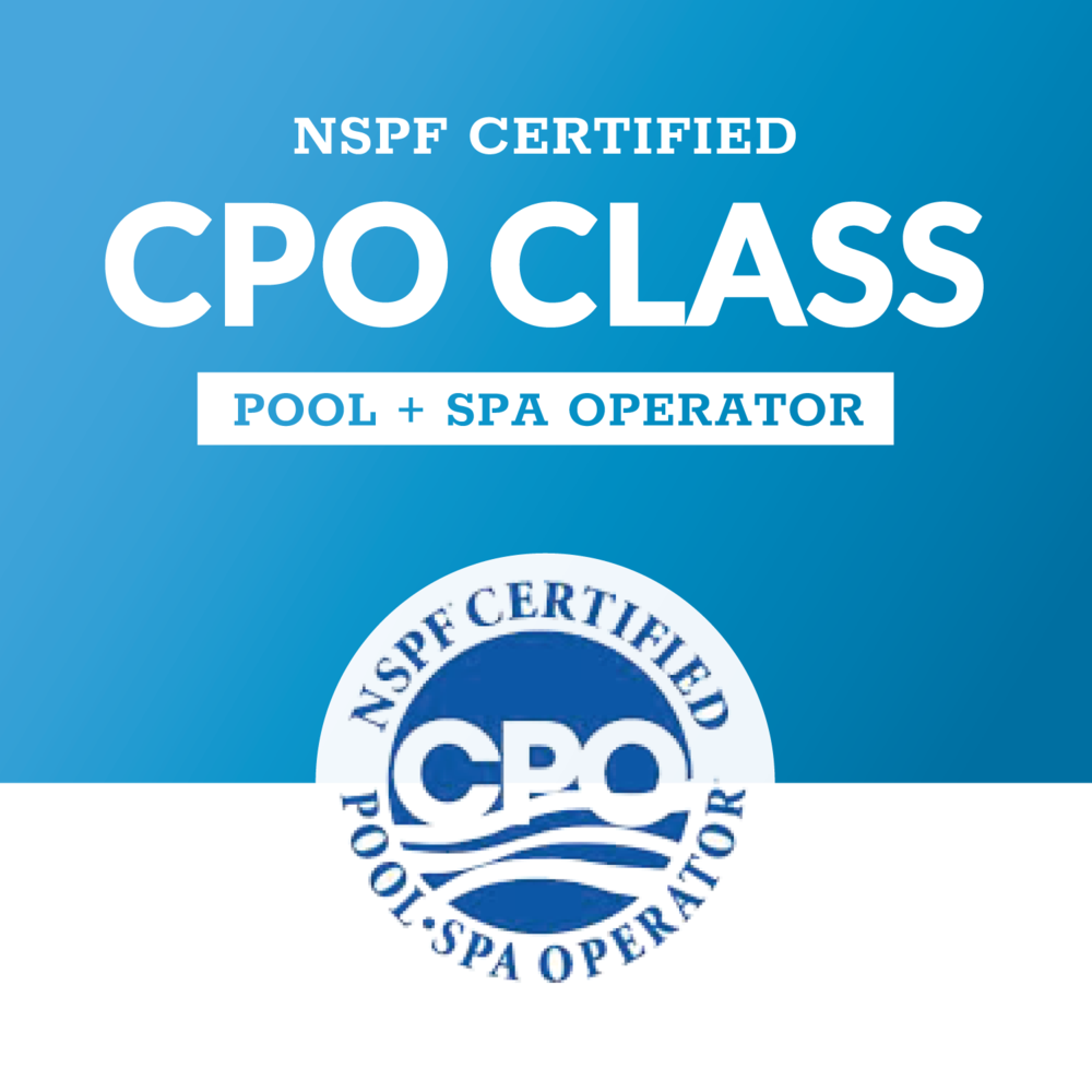 CPO Class Arizona Tempe Scottsdale Mesa Phoenix Certified Pool Operator Course NSPF PHTA Certified Pool Class Swimming Pool
