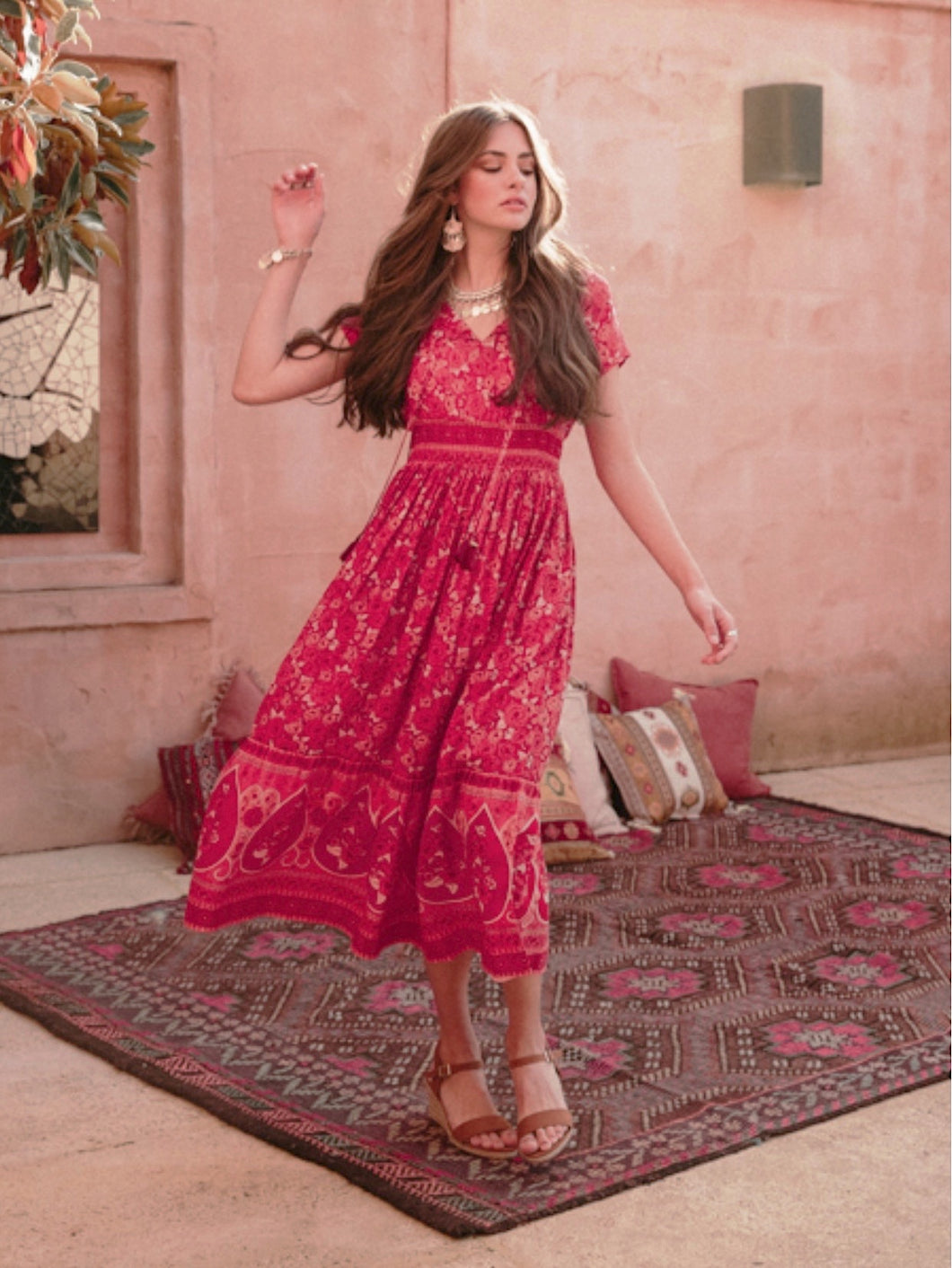 Gypsy Heart Dress Moroccan Rose