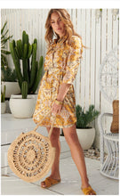 Golden Glow Beverley Shirt Dress - Last one XS (8-10)