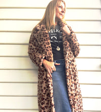 Jacket Faux Leopard Long Length
