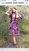 Desert whisperer Frill Sleeve Playdress - Last 1 Small Purple