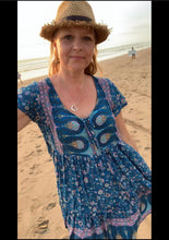 Eclectic Bohemian Sundance Dress Ocean Blue