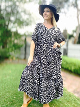 Eden Dress in Black Leopard