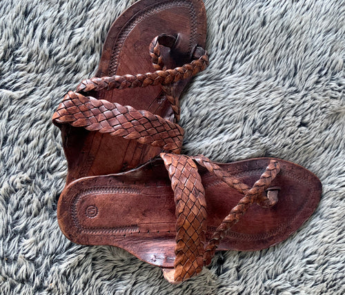 Leather Slides Dark Coffee Brown Handmade in India