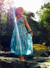 Eclectic Bohemian Trapese Sundress Sky Blue
