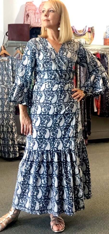 Eastern Eclectica Wrap Dress