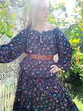 Eclectic Bohemian Sophia dress in Navy Floral