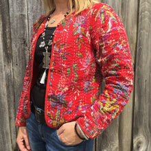 Kantha Cotton Jacket Redbird - Last one Medium