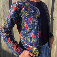 Kantha Cotton Jacket Navybird